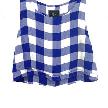 Juliette -  Cobalt/White Check