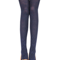 Navy Blue Hosiery Pantyhose Tattoo Legging Tights