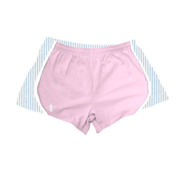 Light Pink Jersey with Light Blue Seersucker Shorts by Lily Grace - FINAL SALE