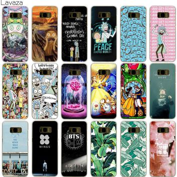Lavaza Rick and Morty Bts Bangtan Boys Beauty And The Beast Banana Case for Samsung Galaxy S5 S6 S7 Edge S9 S8 Plus