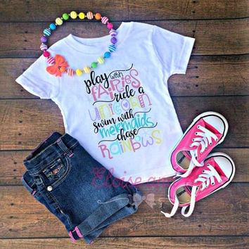unicorn shirt toddler, mermaid shirt for girls, newborn outfit, baby shower gift, baby girl coming home outfit, baby girl take home outfit