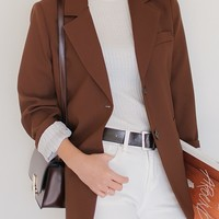 Pretty Is That All Basic Jacket (Brown)