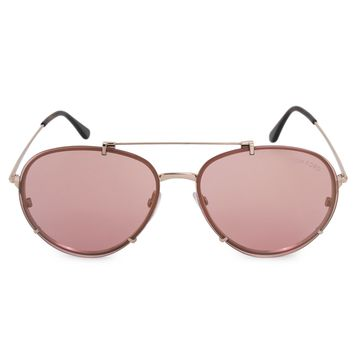 Tom Ford Dickon Aviator Sunglasses FT0527 28Z 61 | Rose Gold Frame | Pink Mirror Lenses