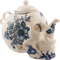 Trevor Jackson - Skull Teapot in Flowers - $1,200.00 : {Far4}, Seattle Home Decor ($900.00)