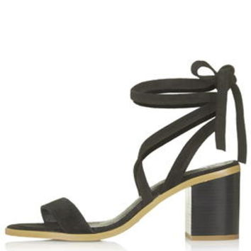 NOMAD Suede Tie Sandals - Black