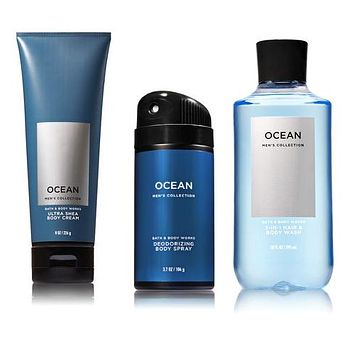 Bath & Body Works OCEAN FOR MEN Body Cream / Shower Gel / Body Spray