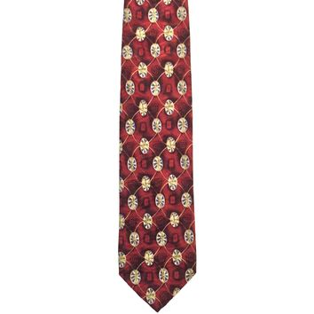 Jos. A. Bank Foulard Wide Silk Tie - Dark Red