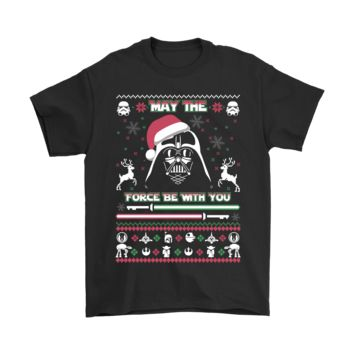 ICIK6Q May The Force Be With You Darth Vader Christmas Shirts