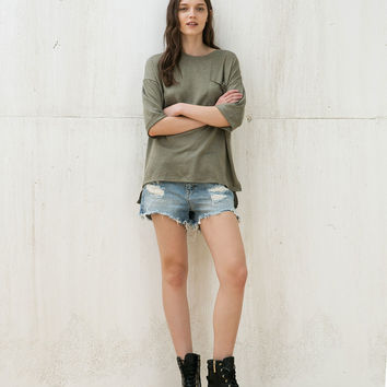 Oversized sweatshirt with short rolled up sleeves - Sweatshirts - Bershka Germany