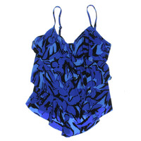 Magicsuit Womens Printed Tiered Swim Top Separates