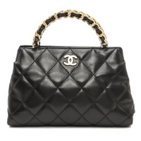 Vintage Chanel Quilted Trapezoid Bag