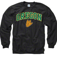 Oregon Ducks Black Perennial II Crewneck Sweatshirt