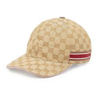GG Canvas Baseball Hat, Purple/Pink, Size: MEDIUM, PURPLE/PINK - Gucci