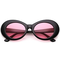 Retro 90's Fashion Clout Oval Round Pantone Lens Sunglasses C441
