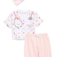 Infant Girl's Baby Aspen 'Big Dreamzzz - Baby Nurse' Hat, Shirt & Pants