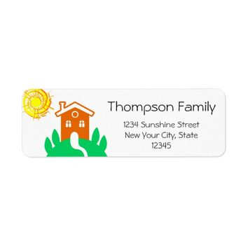 Funny customizable family home label