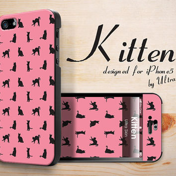iPhone 5 Case  iPhone5 Hard Case Cover Pink Cute Cat by UltraCase