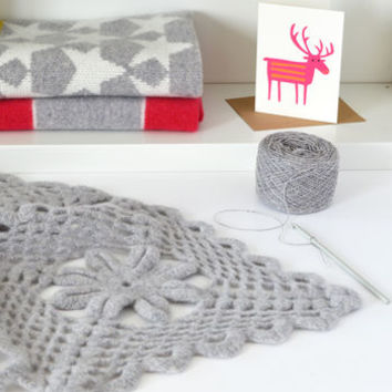 luxury crochet soft lambswool throw kit by warm pixie diy | notonthehighstreet.com