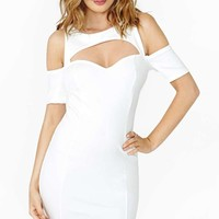 Nasty Gal Body Heat Dress - White