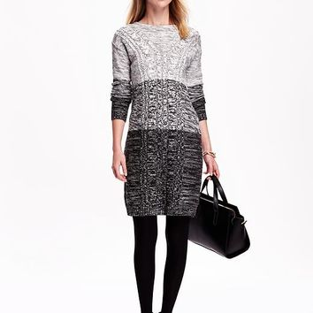 Old Navy Womens Marbled Cable Knit Dress