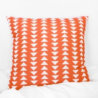 Triangle Printed Pillow Case - Orange