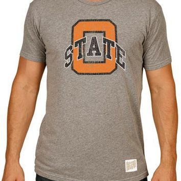 Original Retro Brand Oklahoma State Cowboys Mens Short Sleeve Fashion T-Shirt - Grey
