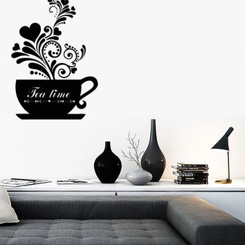 Wall Stickers Vinyl Decal Tea Coffee Cup Cool Decor For Kitchen  (z1767)