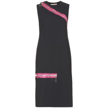 christopher kane - zip-detail stretch-crepe dress