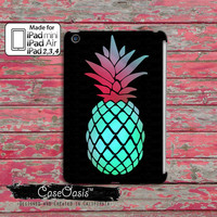 Pineapple Fruit Pop Art Mint and Pink Summer Tumblr Cute Custom iPad Mini 1, 2 and  iPad 2, 3, 4 and iPad Air and iPad Air 2 Case Cover