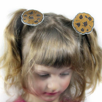 Chocolate Chip Cookies Hair Clips