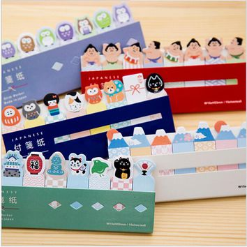 8 pcs / lot Point marker memo pad post Japanese sushi cartoon stickers notes Stationery Office accessories school supplies
