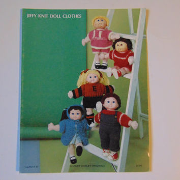 Jiffy Knit Doll Clothes to Crochet by Shirley Shirley Originals Leaflet 37