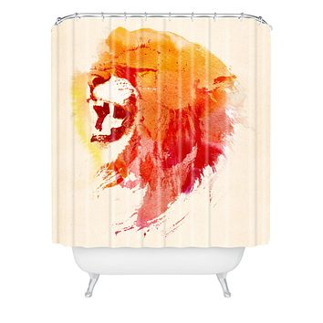 Robert Farkas Angry Lion Shower Curtain