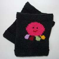 Squidgy Knitted Boot Cuffs Octopus With Colorful Tentacles Of Mice & Men Leg Warmer