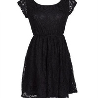 All Over Lace Cap Sleeve Dress