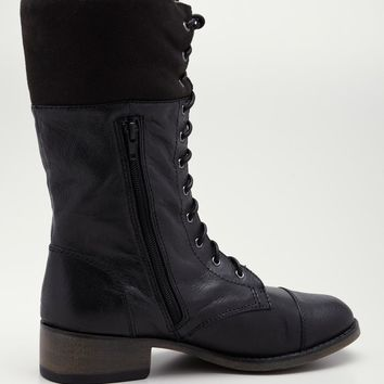 Steve Madden Flight Combat Boot In Black