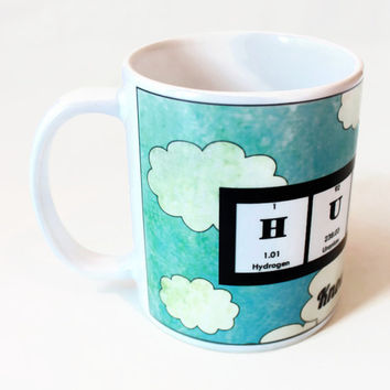 Huzzah for Chemistry Mug - Periodic Table Graduation Inspiration Funny Oh the Places You Will Go Limitless Clouds
