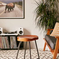 Jacob Metal Wood Stool - Urban Outfitters