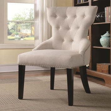 Accent Seating Button Tufted Back Chair with Nail Head Trim