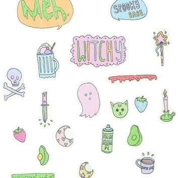SPOOKY SWAG STICKER SET