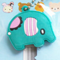 Cartoon Key Cap Cover/ Keychain / Charm Elephant
