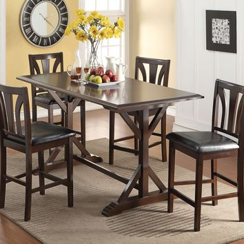 Appealing Counter Height Table , Cherry Brown