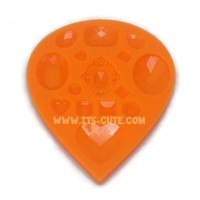 Faceted Jewels Silicone Rubber Food Safe & Craft Mold.