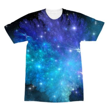 Blue and Purple Space Explosion American Apparel Sublimation T-Shirt