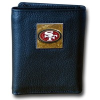 San Francisco 49ers Leather Trifold Wallet