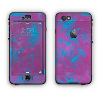 The Purple and Blue Paintburst Apple iPhone 6 Plus LifeProof Nuud Case Skin Set