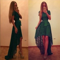 Women Sexy Lace Maxi Long Solid Dress Floor Length Cocktail Gown Party Dress Evening Dress = 5659299905