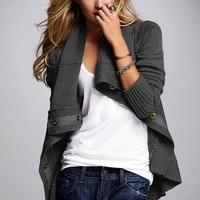 High-low Cardigan Sweater