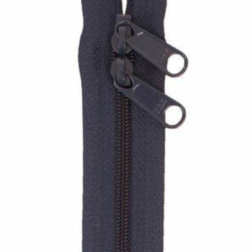 Handbag Zipper 30 inches Navy Blue Double Slide