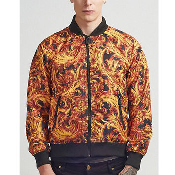 Criminal Damage - Baroque Reversible Bomber - Multi